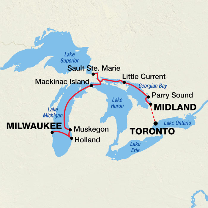 Show Me A Map Of The Great Lakes Great Lakes Cruise | Pearl Seas, Defining Luxury Adventure