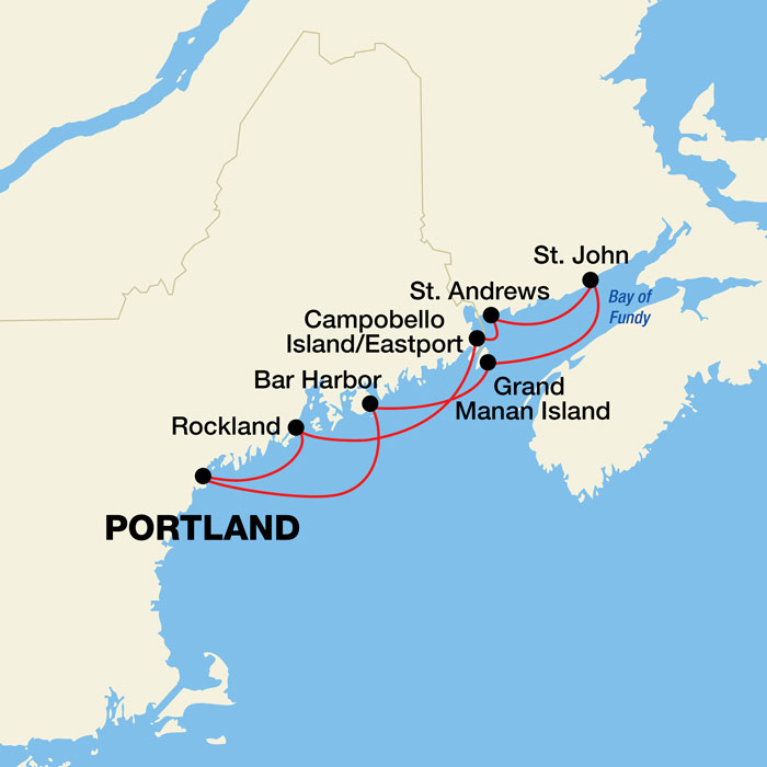 Maine Coast And Canadian Harbors